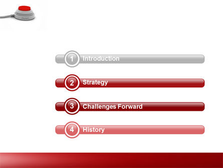 Panic Button PowerPoint Template, Slide 3, 04259, General — PoweredTemplate.com