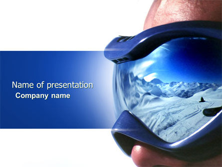 Careers/Industry: Snowboarding In Glasses PowerPoint Template #04261