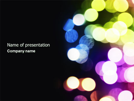 Bokeh PowerPoint Template, 04263, Abstract/Textures — PoweredTemplate.com