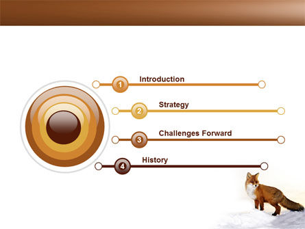 Red Fox PowerPoint Template, Slide 3, 04264, Animals and Pets — PoweredTemplate.com