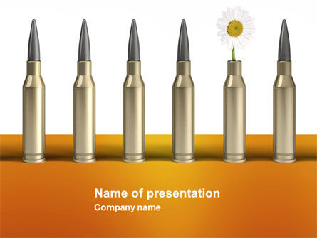 Military: No War PowerPoint Template #04265