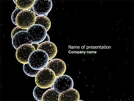 Molecule Cluster PowerPoint Template, 04266, Technology and Science — PoweredTemplate.com