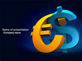 Financial/Accounting: Euro vs. Dollar PowerPoint Template #04268