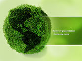 Global: Green Land PowerPoint Template #04269