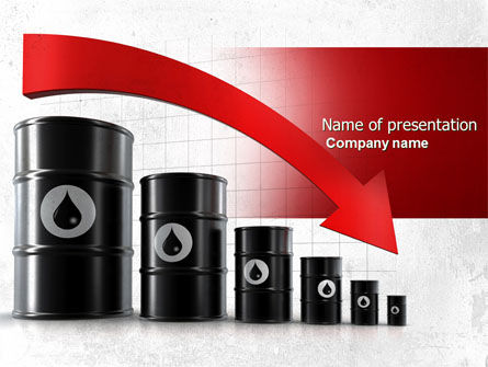 Careers/Industry: Oil Production Decrease PowerPoint Template #04274