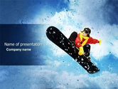 Sports: Snowboard PowerPoint Template #04275