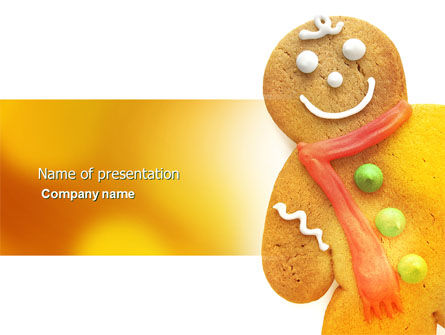 Holiday/Special Occasion: Gingerbread Man PowerPoint Template #04276