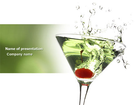Martini Drink PowerPoint Template