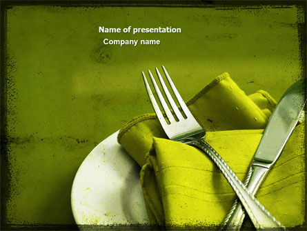 Careers/Industry: Flatware PowerPoint Template #04286