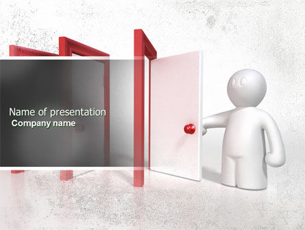 Enfilade Open Doors PowerPoint Template, 04288, Education & Training — PoweredTemplate.com