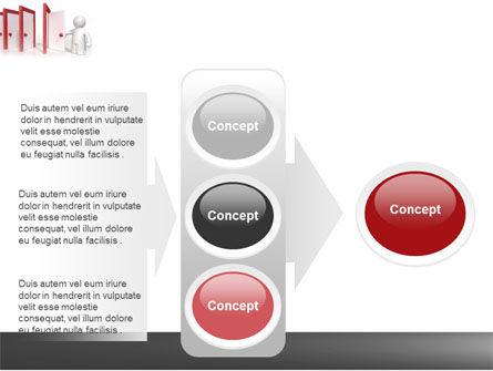 Enfilade Open Doors PowerPoint Template Slide 11