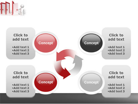 Enfilade Open Doors PowerPoint Template Slide 9