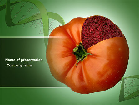 Technology and Science: Genetically Modified Foods PowerPoint Template #04290