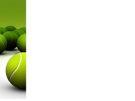 Tennis Balls PowerPoint Template, Slide 3, 04296, Sports — PoweredTemplate.com