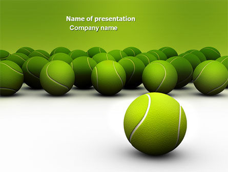 Tennis Balls PowerPoint Template, 04296, Sports — PoweredTemplate.com