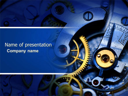 Construction: Precision Clockwork PowerPoint Template #04297