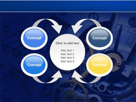 Precision Clockwork PowerPoint Template Slide 6