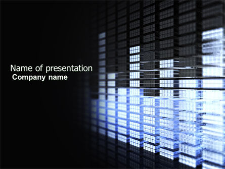 Visual Equalizer PowerPoint Template, 04300, Technology and Science — PoweredTemplate.com