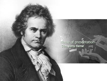 Education & Training: Modelo do PowerPoint - beethoven #04301