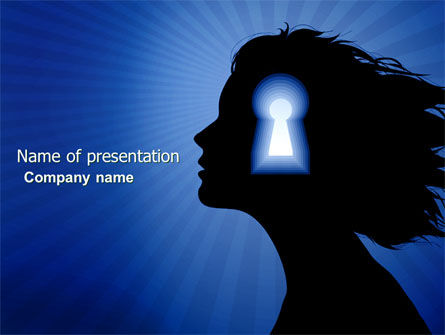 Female Mind PowerPoint Template, 04302, Consulting — PoweredTemplate.com