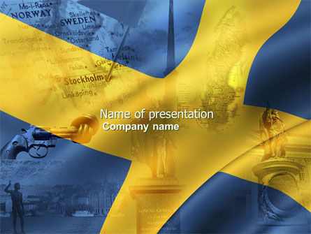 Flags/International: Sweden PowerPoint Template #04305