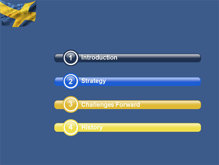 Sweden PowerPoint Template, Slide 3, 04305, Flags/International — PoweredTemplate.com