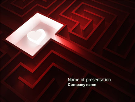 Holiday/Special Occasion: Way to the Heart PowerPoint Template #04308
