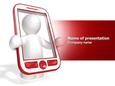 Telecommunication: Wireless Phones PowerPoint Template #04312