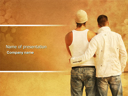 Homosexual Relationships PowerPoint Template, 04313, People — PoweredTemplate.com