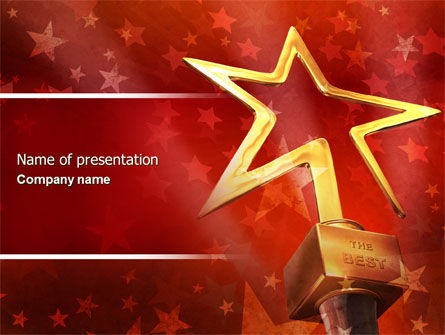 Star Of The Best PowerPoint Template, 04316, Holiday/Special Occasion — PoweredTemplate.com