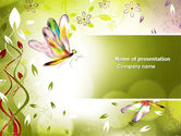 Abstract/Textures: Floral Theme PowerPoint Template #04318