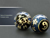 Medical: Chinese Therapy Balls PowerPoint Template #04324