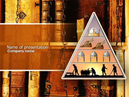 Feudalism PowerPoint Template, 04325, Education & Training — PoweredTemplate.com