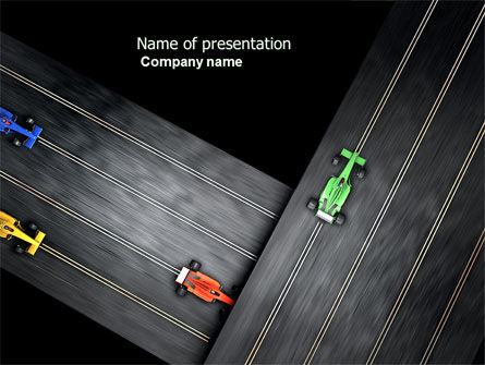 Racing Video Game PowerPoint Template, 04327, Cars and Transportation — PoweredTemplate.com