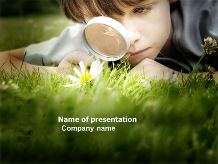 Education & Training: Nature Investigation PowerPoint Template #04328