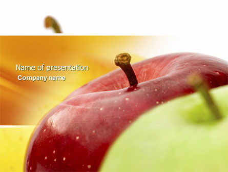 Red And Green Apples PowerPoint Template