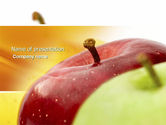 Agriculture: Red And Green Apples PowerPoint Template #04330
