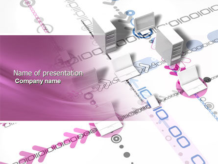 Telecommunication: Multicomputer System PowerPoint Template #04331
