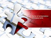 Business: Modèle PowerPoint de homme sauteuse #04332