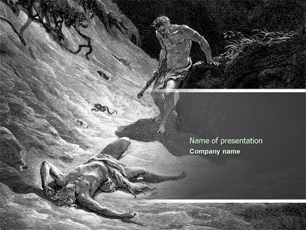 Religious/Spiritual: Cain and Abel PowerPoint Template #04335