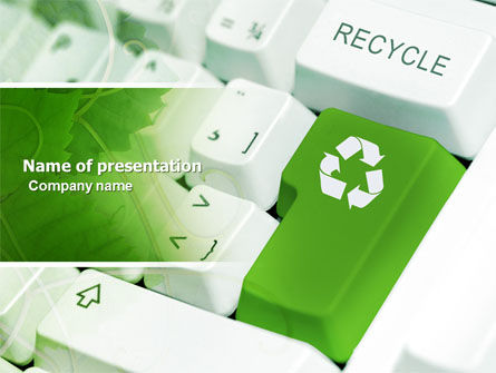 Nature & Environment: Recycling Technology PowerPoint Template #04339