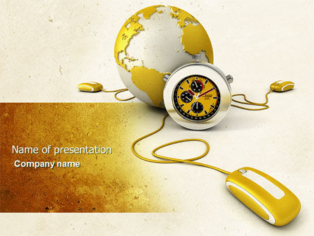 Telecommunication: World Connection PowerPoint Template #04340