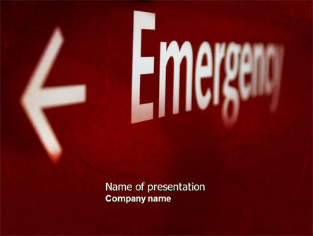 Emergency Sign PowerPoint Template, 04341, Business Concepts — PoweredTemplate.com