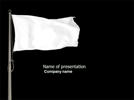 White Flag PowerPoint Template