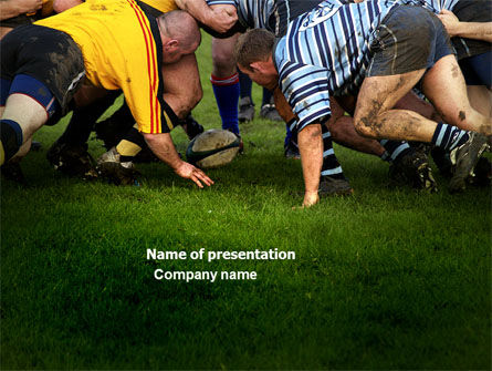 Sports: Rugby PowerPoint Template #04352