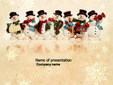 Holiday/Special Occasion: Snowmen Orchestra PowerPoint Template #04354