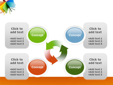 Color Paper PowerPoint Template Slide 9
