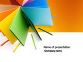 Business: Color Paper PowerPoint Template #04355
