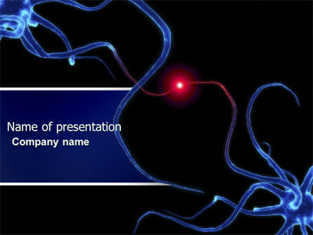 Medical: Communicating Neurons PowerPoint Template #04356