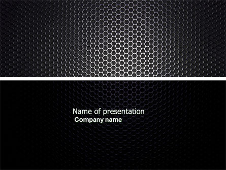 Abstract/Textures: Black Grid PowerPoint Template #04358